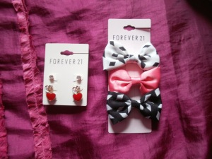 forever 21 earrings and hairbows