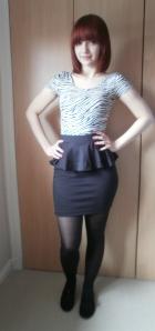 ootd post - forever 21 skirt
