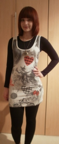 OOTD - Alice in Wonderland Print Dress