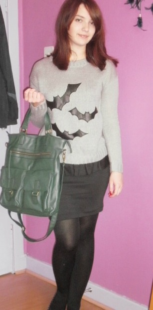 ootd  - bats and peplum