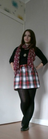 ootd - tartan skirt